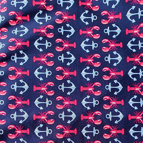 Lobsters & Anchors - Cotton