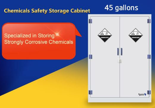 Corrosive Safety Cabinet PP,  45 Gallons/170L