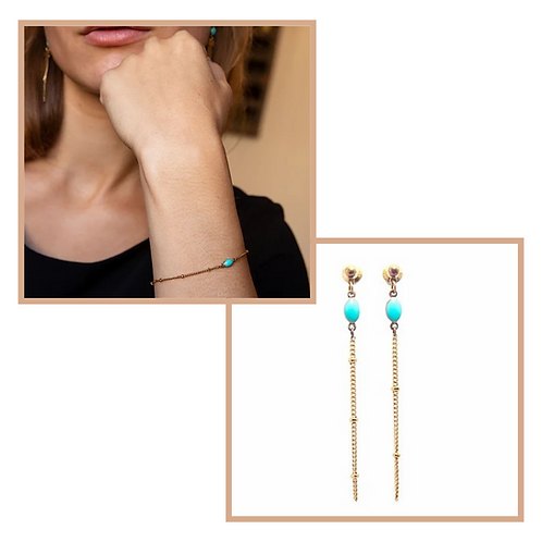 SOLAL - Bracelet & Boucles d'oreilles