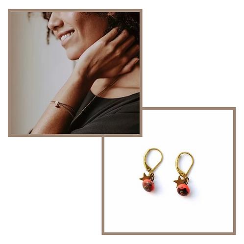 Boucles d'oreille SIRIUS et Bracelet CHANCE