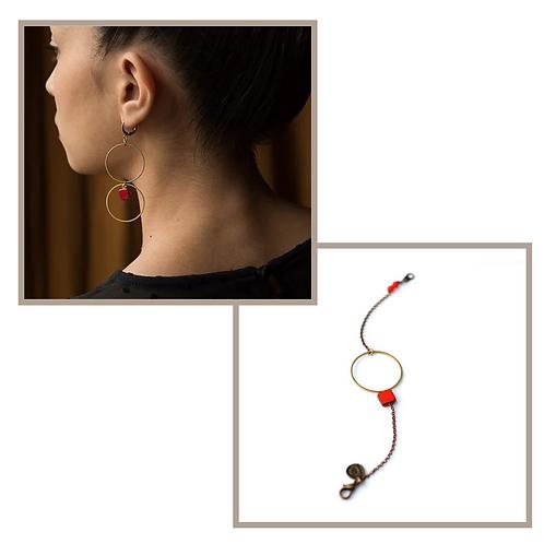 Bracelet EQUINOXE et Boucles d'oreilles LUNE