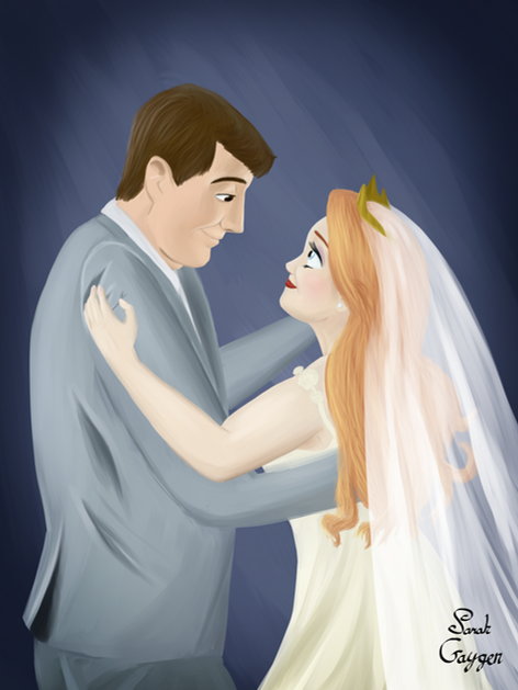 David and Rebecca Gaygen Wedding Portrait