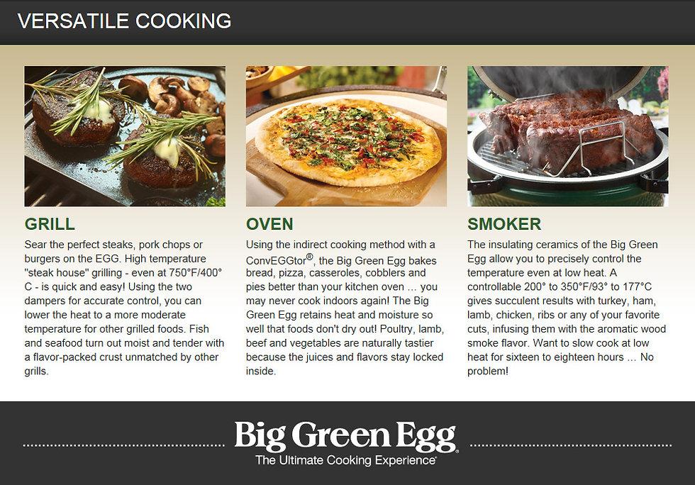 Big Green Egg Versatile