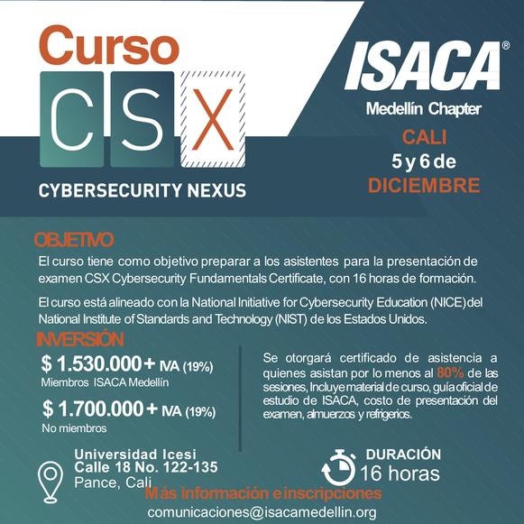 Curso CSX – Cybersecurity Fundamentals