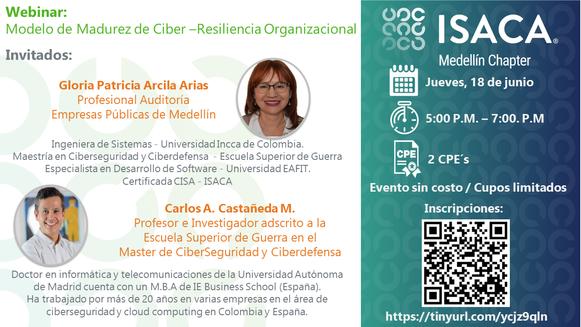 WEBINAR Modelo de Madurez de Ciber –Resiliencia Organizacional
