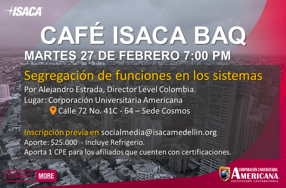 Primer Café 2018 ISACA Barranquilla