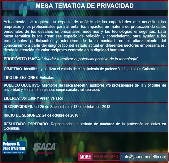 Mesa Temática de Privacidad