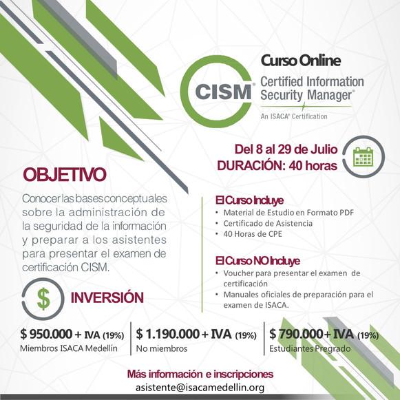 CURSOS ONLINE CISM y CRISC