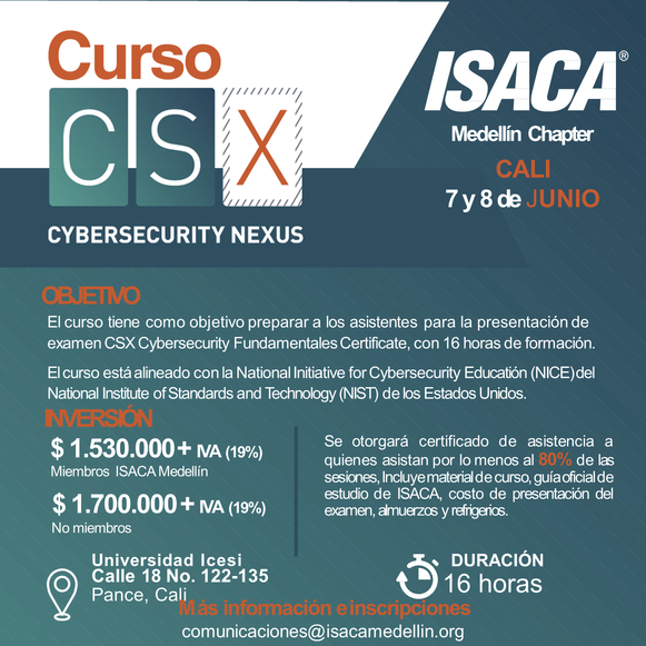 Curso Preparatorio CSX - Cybersecurity Fundamentals