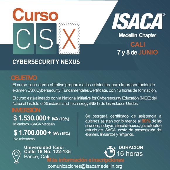 Curso Preparatorio CSX - Cybersecurity Fundamentals