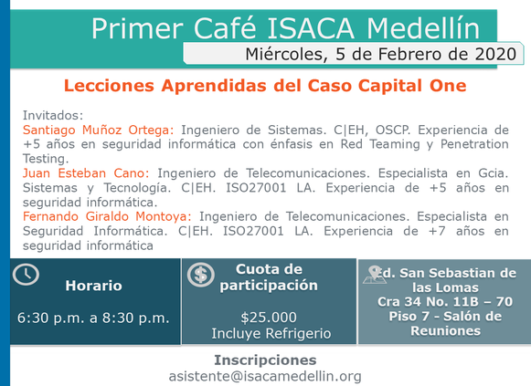 Primer Café ISACA Medellín