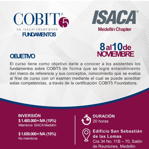 Curso de Fundamentos de COBIT5 Medellín, Noviembre de 2018