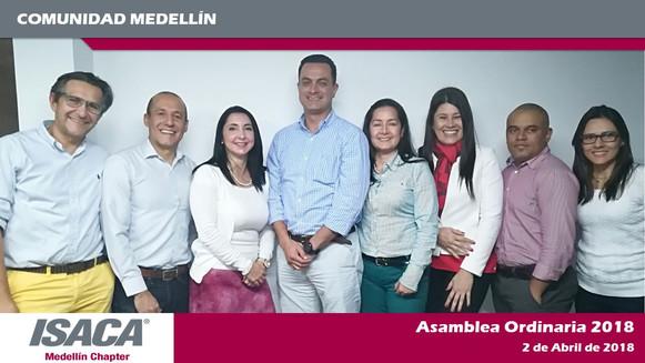 Junta Directiva ISACA Medellín 2018 - 2020