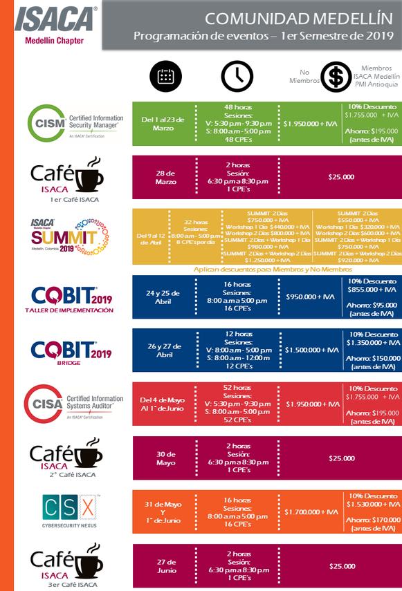 Agenda de Eventos Medellín Primer Semestre 2019