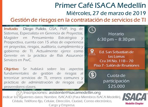 PRIMER CAFÉ ISACA MEDELLÍN 2019
