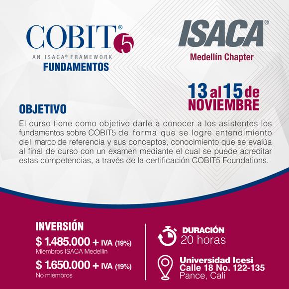 Curso de Fundamentos de COBIT5 Cali, Noviembre de 2018
