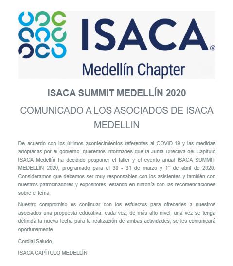 ISACA SUMMIT MEDELLÍN 2020