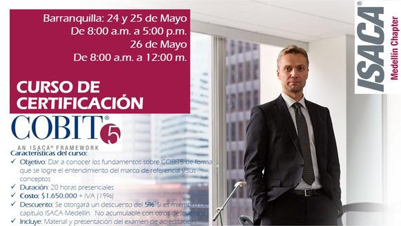 Curso de Certificación COBIT5 - Barranquilla, del 24 al 26 de Mayo de 2018