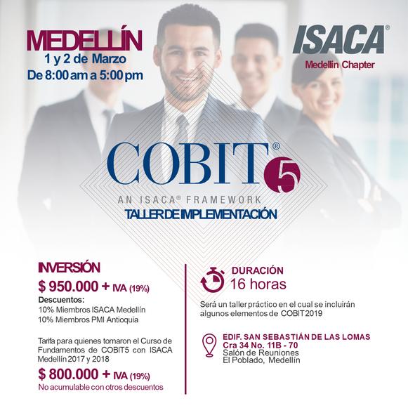 COBIT 2019: Taller de Implementación Medellín, Marzo de 2019