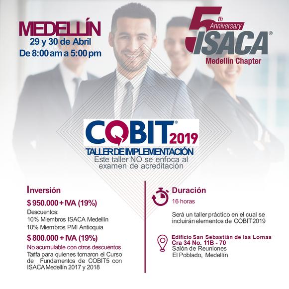 Taller de Implementación COBIT 2019 y Curso de Fundamentos COBIT 2019