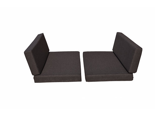 Dinette Covers 4 Piece Set in Bark Brown 4 Inch