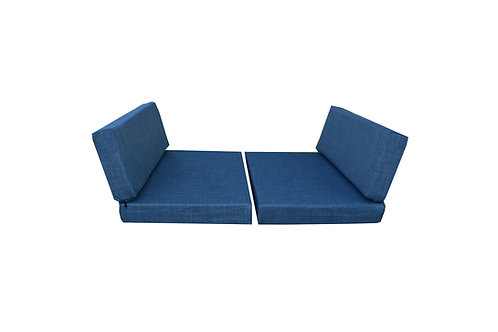 """Dinette Cushion Covers Set in Blueberry 4"""""""
