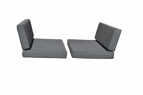"""Dinette Cushion Covers Set in Slate 4"""""""
