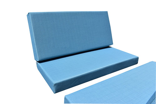 """Dinette Cushion Covers Set in Teal 4"""""""