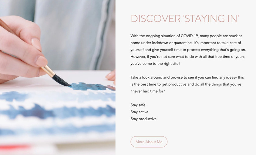 Staying In Website