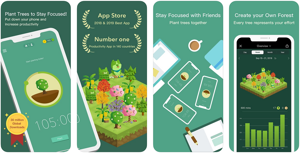 Forest - Top 5 apps I use in 2020