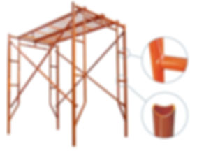 Frame scaffolding for construction