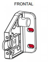 soporte vertical frontal