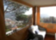toldo vertical pvc transparente