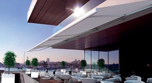 toldo retráctil cofre terraza grande