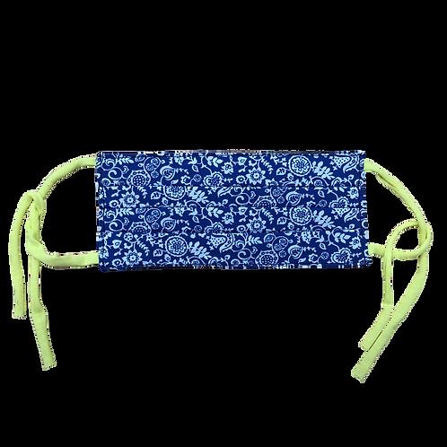 Masque de protection, tissu liberty bleu