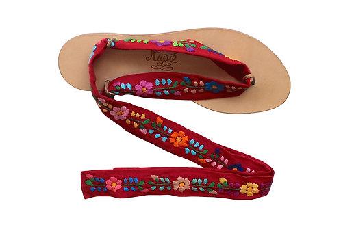 Sandales Nupié PUEBLA Red