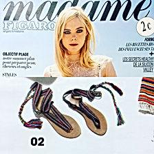 Madame Figaro Juin 2017 | nupié, nupie, sandals, rubans, ribbons, handmade, karen, thailand, karen tribe