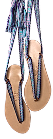 sandales rubans interchangeables