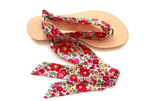 Sandales Nupié avec liens Liberty Red
