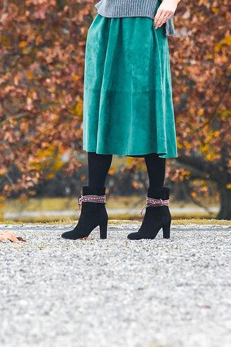 nupié, nupie, winter collection, boots, black boots, rubans, interchangeable, handmade