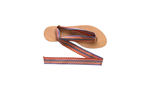 Sandales formentera corail