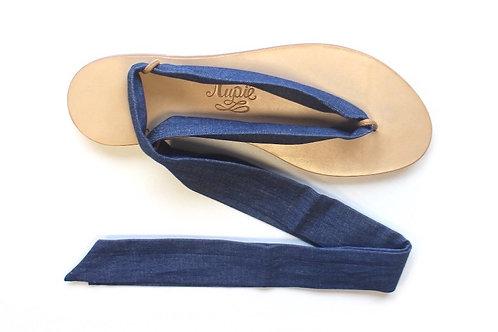Sandales Nupié avec Paire de liens denim