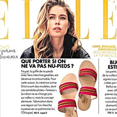 Elle Mai 2018 | nupié, nupie, sandals, slippers, pink, handmade, teressa, pink, konso