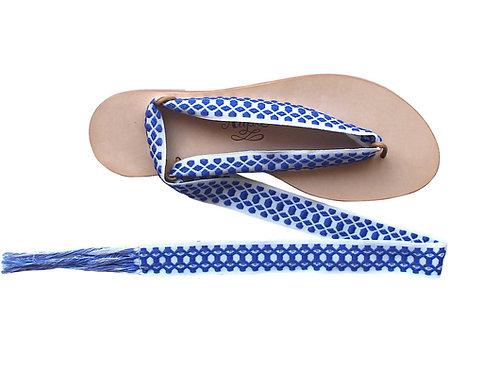 Sandales Nupié avec liens Hydra bleu