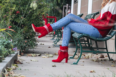 nupié, nupie, winter collection, boots, red boots, fashion, rubans
