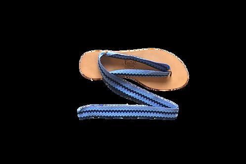Sandales formentera bleu