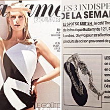 Madame Figaro juillet 2015 | nupié, nupie, sandals, sandales, rubans, ribbons, press, handmade