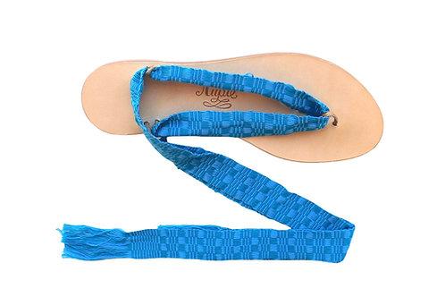Sandales Nupié avec liens Kayan Light Blue