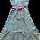 Thumbnail: Nupié Resort Robe Blockprint coton turquoise