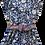 Thumbnail: Nupié Resort Robe Blockprint coton bleu